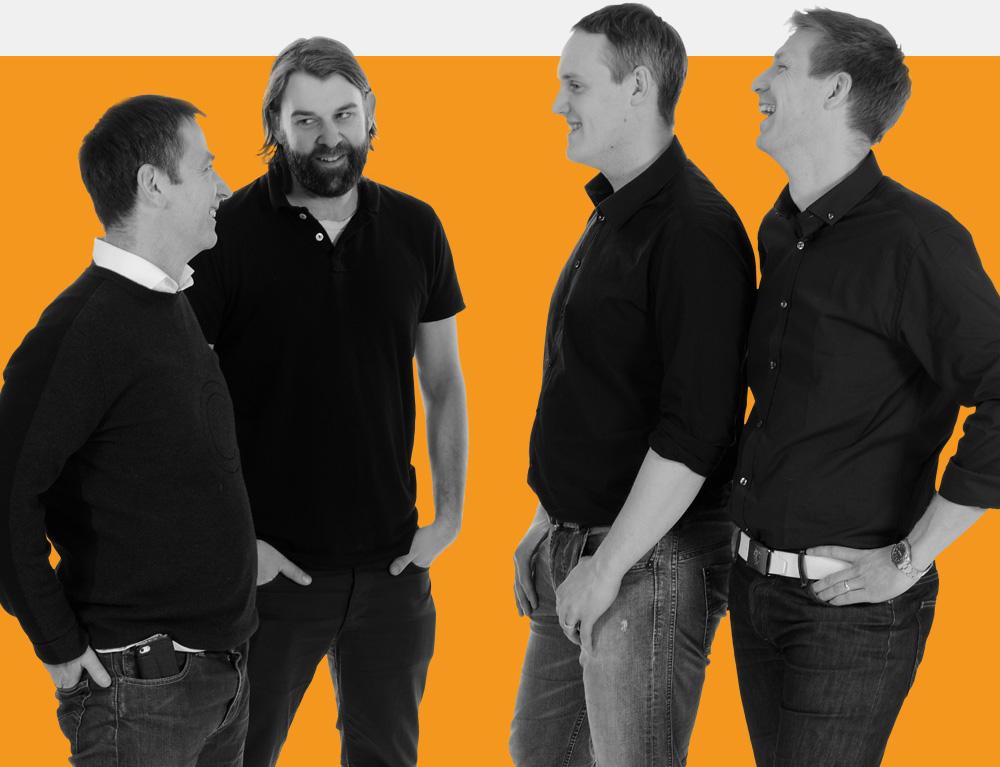 Leif Fällman, David Tonegran, Joel Winér och Magnus Åkerlind på Bricon.